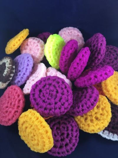 Crocheted Nylon Pot Scrubbers colors