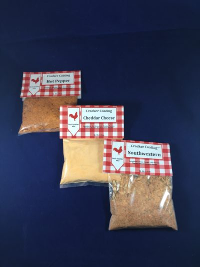 Red Rooster Cracker Coating Options