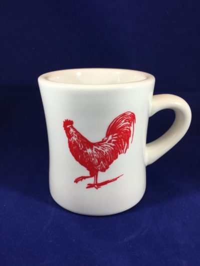 Red Rooster White Mug