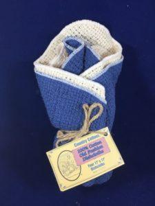 Blue Dish Cloth 4 Pack